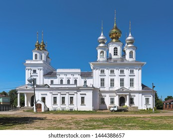 Resurrection Cathedral in Shuya, Ivanovo Oblast, Russia. The cathedral in neoclassical style was built in 1792-1798.