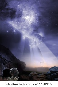 Resurrection Scene - Elements of This Image Furnished by NASA