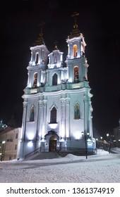 Resurrection (Voskresenskaya) church in Vitebsk. Belarus