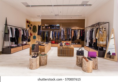 Retail clothes shop design interior