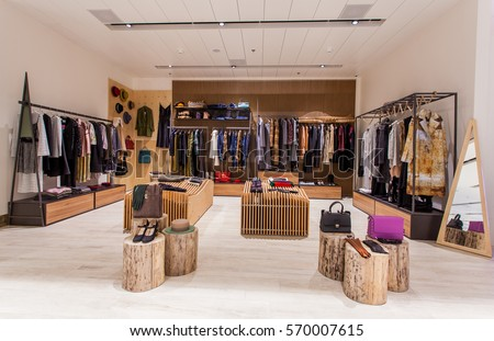 Retail Clothes Shop Design Interior Stock Photo (Edit Now) 570007615 ...