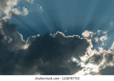 retail of ray of light in cloudy sky