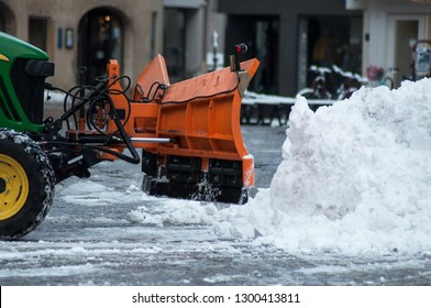 retail of snow plow on the main place in Mulhouse - France