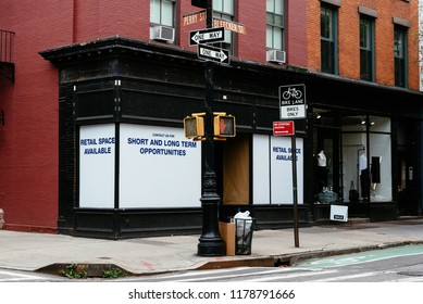 Retail space available for sale or lease in colorful old building in Greenwich Village in New York