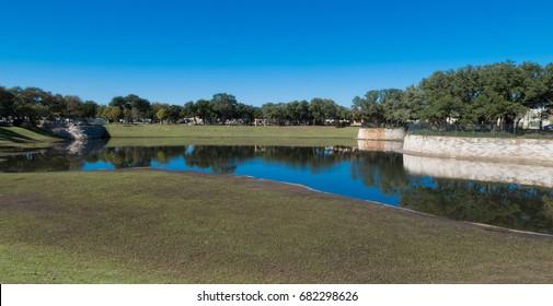 retention pond after a good rain