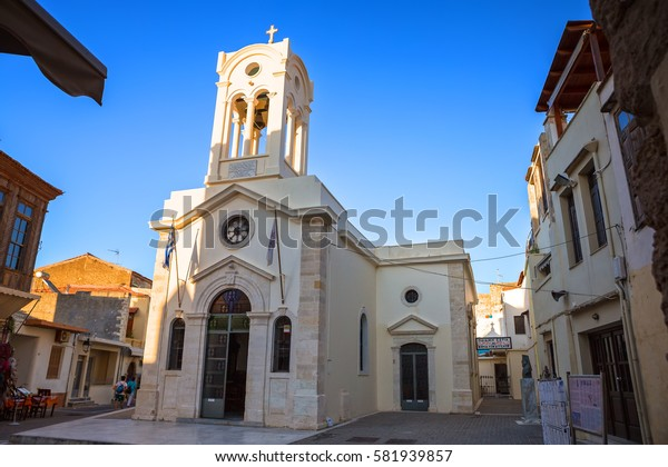 Rethymno, Crete - July 04, 2016: Church of Our Lady of the Angels of Rethymno