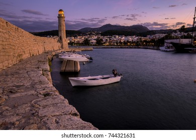 Rethymno Lighthouse evening