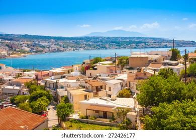 Retimnon. View ftom the castle hill. Crete, Greece.