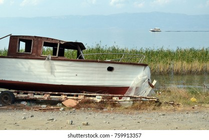 Retired boat on the shore