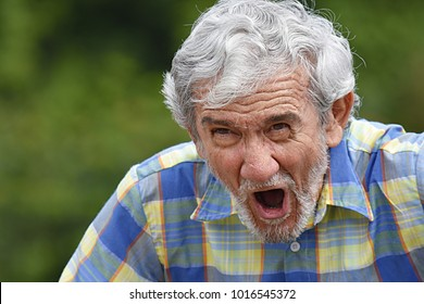 Retired Male Yelling