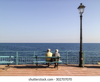 Retired people on the coast