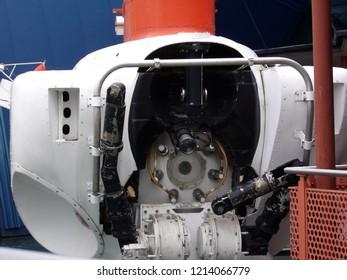 A retired scientific submersible at Mystic Aquarium