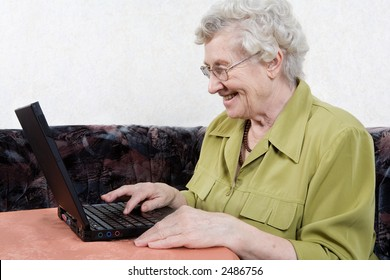 retiree with a laptop