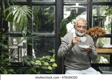 Retirement Cafe Pensioner Leisure Rest Man Concept