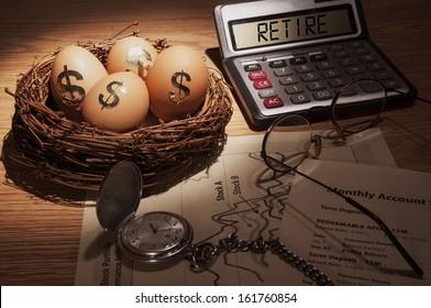 Retirement Nest Egg - low key