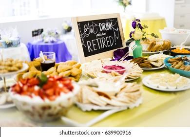 Retirement Party Dessert Table
