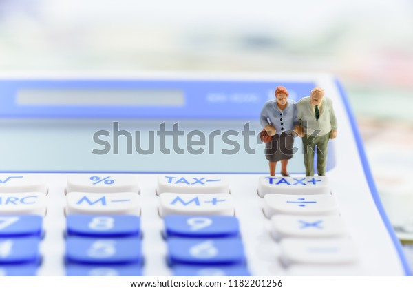 Retirement Pension Income Tax Social Security Stock Photo