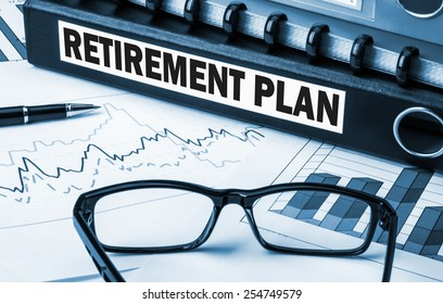 retirement plan label on document folder