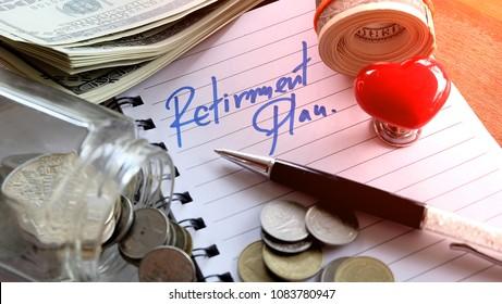 RETIREMENT PLAN Savings money Investment Pension ,