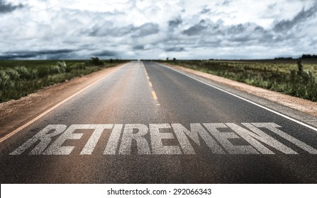 Retirement written on rural road