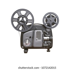 Retro 8mm film projector