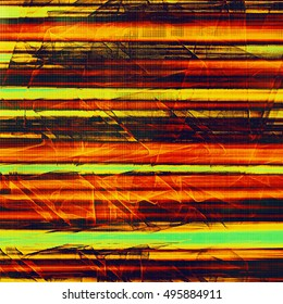 Retro abstract background, vintage grunge texture with different color patterns: yellow (beige); green; red (orange); black