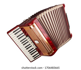 Retro accordion isolated on a white background