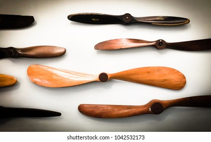 Retro aircraft wooden propellers collection