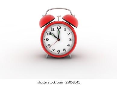 Retro alarm clock. Digitally generated image.