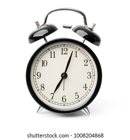 Retro alarm clock isolated on white background