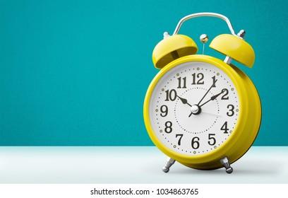 A Retro alarm clock on tablet