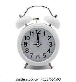 retro alarm clock shows almost twelve, New Year