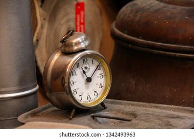 Retro alarm clock from a vintage workshop