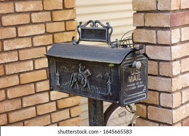 Retro, antique, stylish, lovely metal mailbox