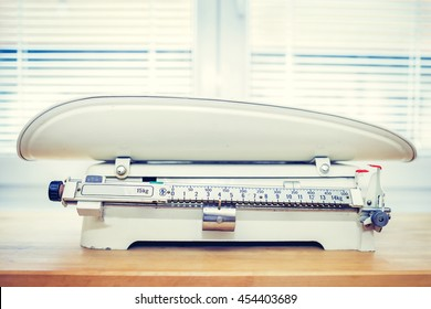 Retro Baby Weight Scale