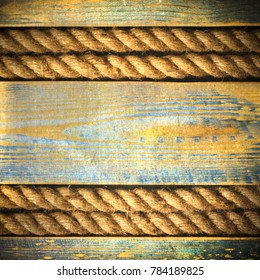 retro background with ropes