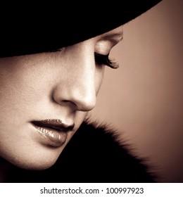 Retro beautiful woman