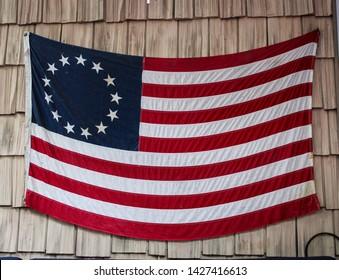 A retro Betsy Ross Flag