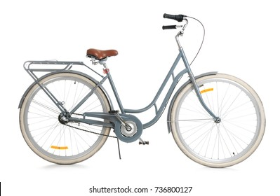 Retro bicycle, isolated on white