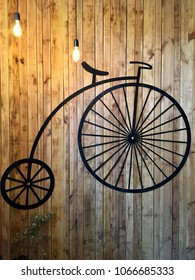 Retro bicycle on the wall