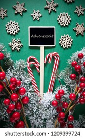 Retro Black Christmas Sign,Lights, Adventszeit Means Advent Season