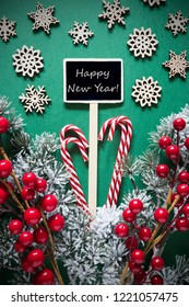 retro black christmas signlights text happy new year