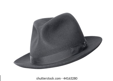 retro black hat isolated on white adc42671941d