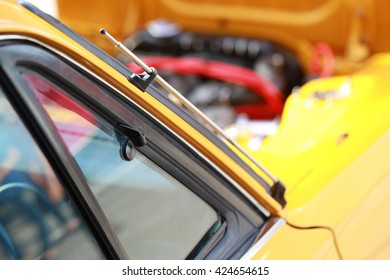 Retro car exterior design