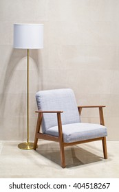 Retro chair and floor lamp torchere