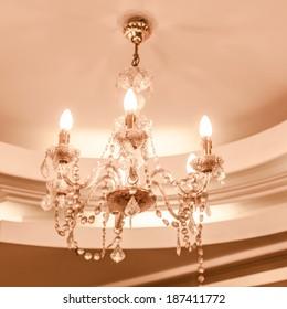 retro chandelier