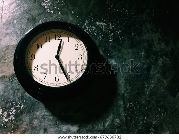 Retro Clock On Wall Processed Vsco Stock Photo (Edit Now) 679636702