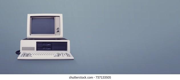 Retro computer header