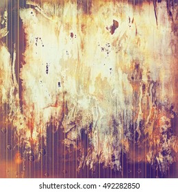 Retro design on grunge background or aged faded texture. With different color patterns: yellow (beige); brown; red (orange); purple (violet); pink; white