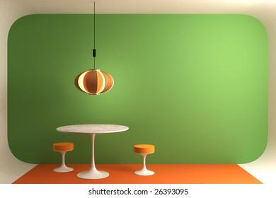 retro dinning room